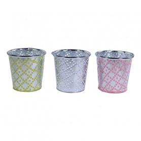Pot de fleurs rond zinc Liberta - Pot zinc fleuriste