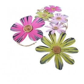 Boite de fleurs en métal à suspendre - Composition florale moderne
