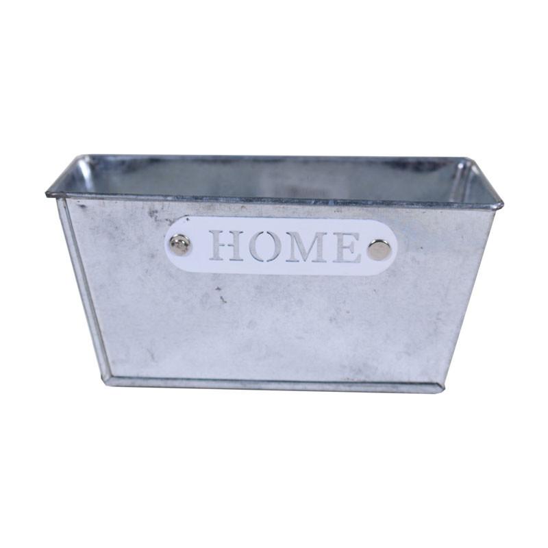 Cache-pot zinc Home - Composition florale moderne