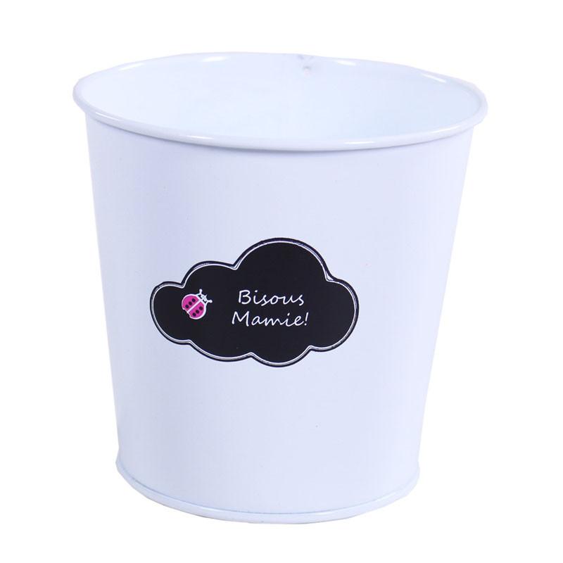 Pot rond nuage bisous mamie - Art floral