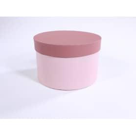 Boîte à chapeau ronde rose poudré