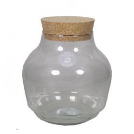 Terrarium fermé en verre et liège Bibun - terrarium déco