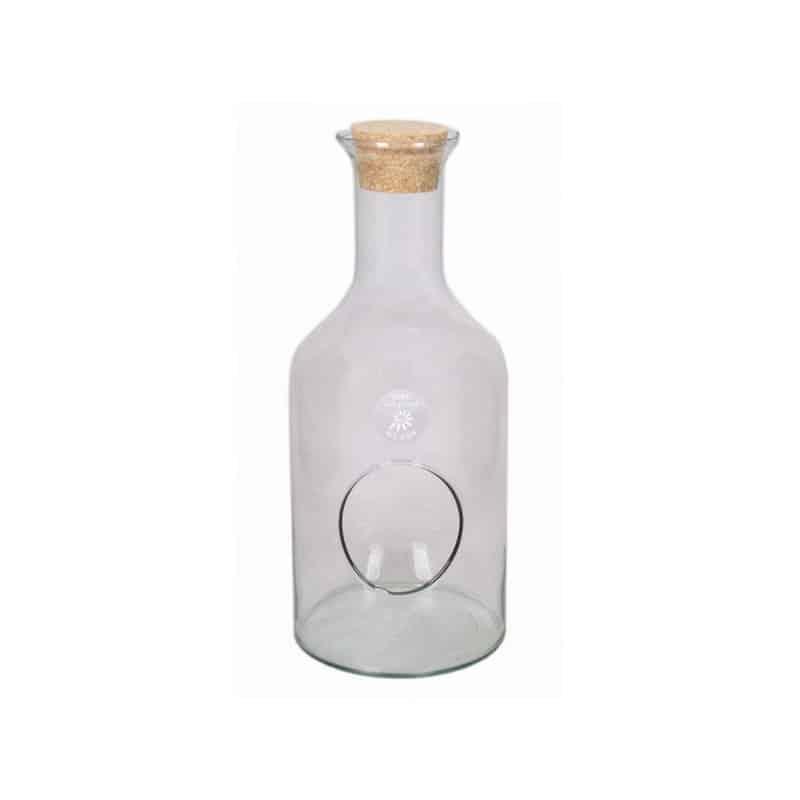 Terrarium en verre et liège forme bouteille Jac - terrarium floral