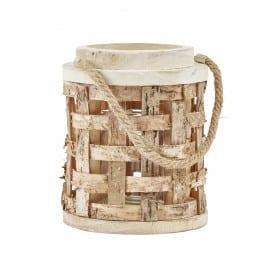 Lanterne décorative en bois Serm - décoration boutique