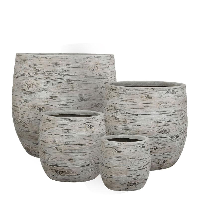 pot de fleur en r sine motif bois davy mat riel fleuriste. Black Bedroom Furniture Sets. Home Design Ideas