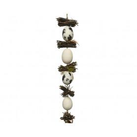 Guirlande œuf et fagot de bois Vivek - décoration de boutique