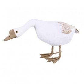 Oie en résine penchée Noiset - décoration boutique