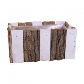 Jardinière en lamelle de bois rectangulaire Yson - matériel fleuriste