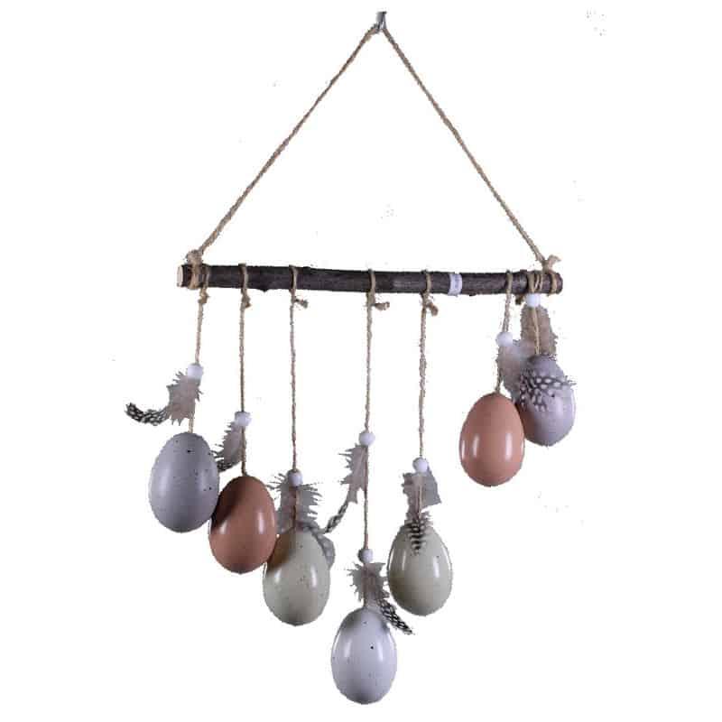 Suspension œufs Calimero - décoration fleuriste