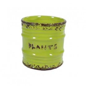 Pot de fleurs en céramique esprit boite de conserve Cany - matériel fleuriste