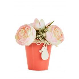 Pot de fleurs rond pampille ananas Ziaora - fourniture fleuriste