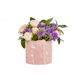 Pot de fleurs rond en céramique Yulia - grossiste fleuriste