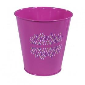 Pot de fleurs rond en zinc motif confettis Festia - fourniture fleuriste