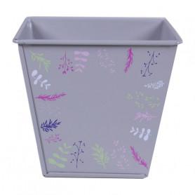 Pot de fleurs carré en zinc motif branche Earssia - grossiste fleuriste