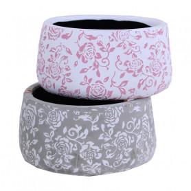 Coupe ronde en terre avec motifs floraux Hiba - materiel fleuriste