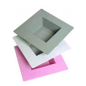 Plateau carré en métal Pyrima - materiel fleuriste