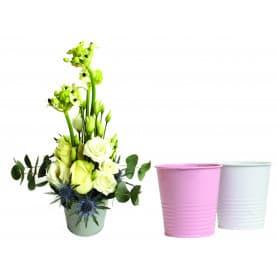 Pot de fleurs rond en métal diamètre 10cm Around - matériel fleuriste