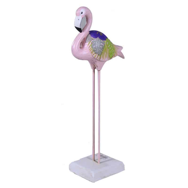 Flamand rose sur socle Evy - Fournisseur décoration