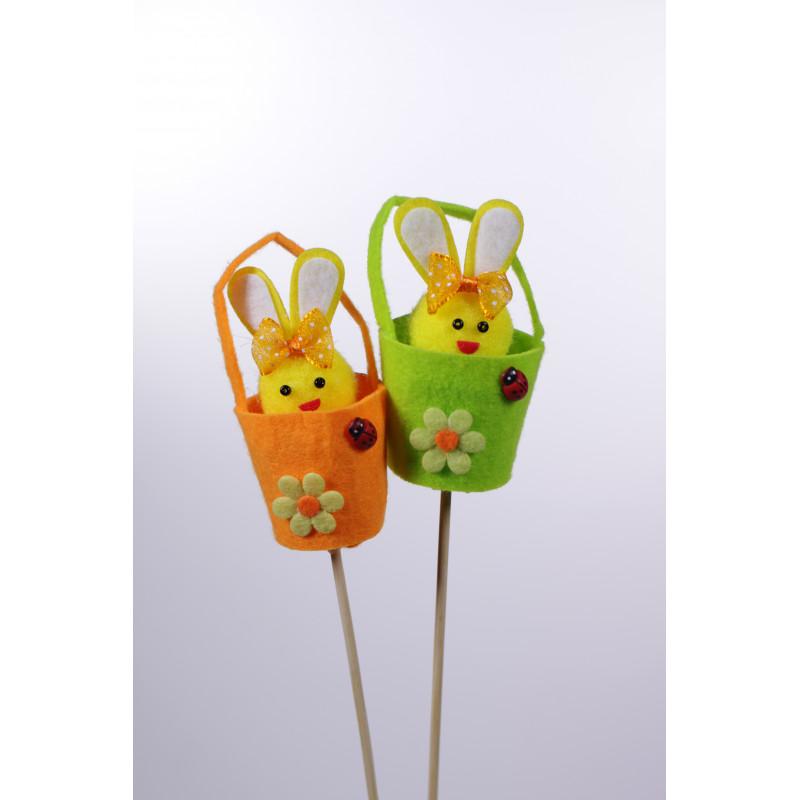 Lapin de Pâques sur pics - Fournisseur fleuriste