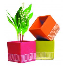 Pot de fleurs carré en ciment Hiero