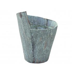 Pot de fleurs rond en écorce Grooty