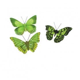 Papillon sur pince ou pic Butterflo - Matériel fleuriste