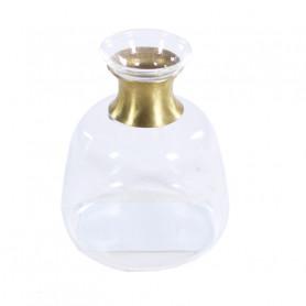 Soliflor bas avec col doré - Grossiste décoration