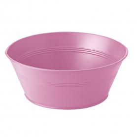 Coupe ronde en zinc rose Pinkaya - grossiste fleuriste