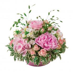 Coupe ronde en zinc rose Pinkaya