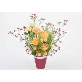Pot de fleurs en zinc Melrose - matériel fleuriste