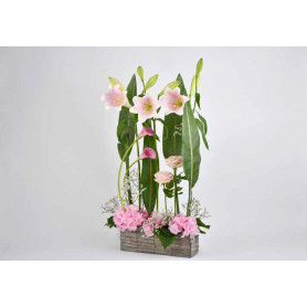 Jardinière en osier Pink Ladies - grossiste décoration