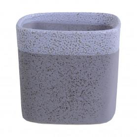 Pot de fleurs carré en céramique bicolore Nacre - grossiste fleuriste
