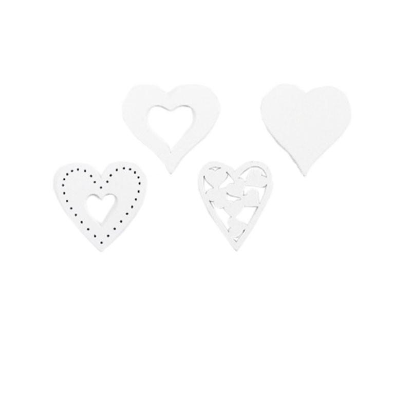 Coeurs assortis à poser Edwige - Grossiste décoration