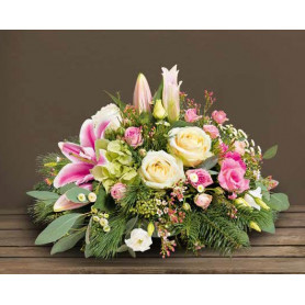 Coupe à rebord en osier naturel Aria - grossiste décoration