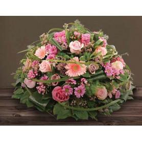 Coussin mousse florale rond 28cm - fourniture pompe funèbre