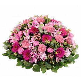 Coussin mousse florale rond 28cm - materiel pompe funèbre