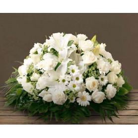 Coussin mousse florale rond 38cm - grossiste pompes funèbres