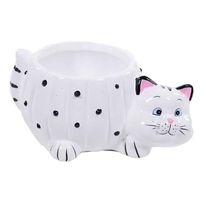 Pot céramique chat Bellou - Grossiste fleuriste