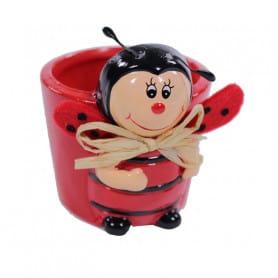 Pot céramique Gabrielle la coccinelle - Grossiste décoration