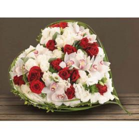 Coeur mousse florale 28cm - grossiste fleuriste