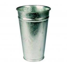 Vase zinc conique naturel Ernée- grossiste fleuriste