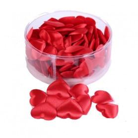 Boîte de 100 cœurs en satin - Grossiste fleuriste