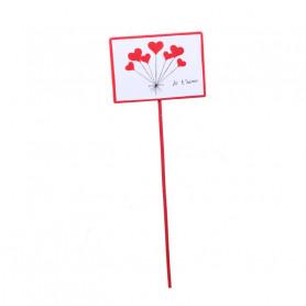 Pic ballon coeur Amoro - Matériel fleuriste