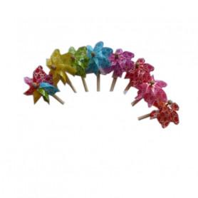 Moulins à vent multicoloris - Matériel fleuriste
