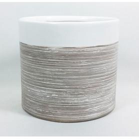 Pot céramique bi-matière Rinau - Matériel fleuriste