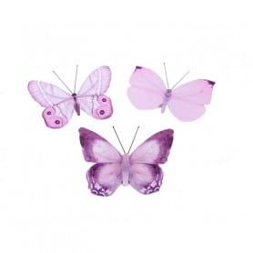 Papillons sur pic 6 cm Jilou - Matériel fleuriste