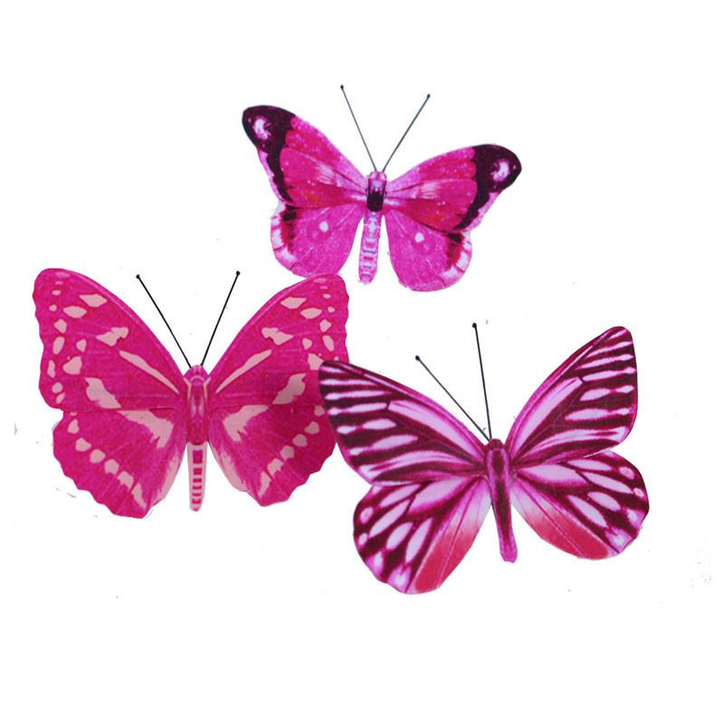 Papillons sur pic 6 cm Quiso - Matériel fleuriste