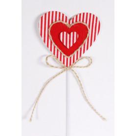 Pic coeur et corde Lovi - Matériel fleuriste