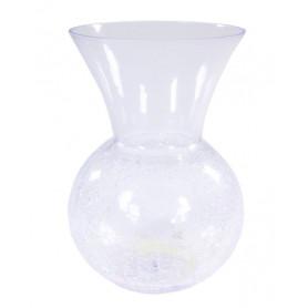 Vase boule en verre craquelé Colito - Matériel fleuriste