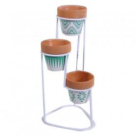 Caches-pot ronds et support métal Mayre - Matériel fleuriste